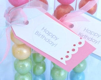 24LARGE GUMBALL TUBES---fits 1 inch gumballs-PaRTY FaVORS-WeDDINGS-BiRTHDAY PARTiES-
