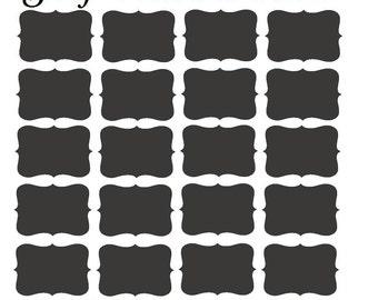 Set Of 20 - Chalkboard Labels