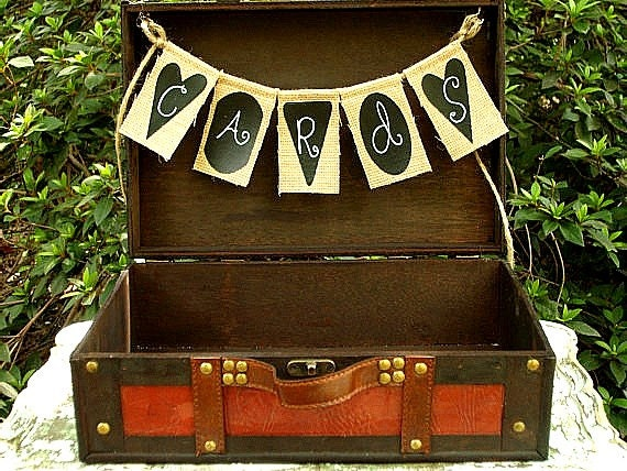 Wedding Card Box Suitcase and Banner - Travel Theme Wedding Card Box and Banner - Choose your Favorite Banner Style