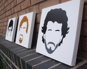 Flight of the Conchords (Minimal) - Spray painted Stencil Painting on Canvas (Wall Art)