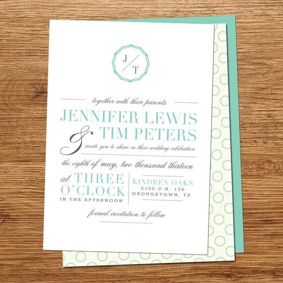 Vintage Column Wedding Invitations
