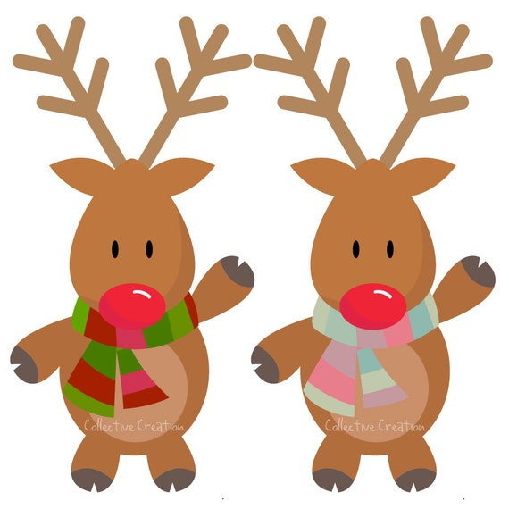 Rudolph the Red Nosed Reindeer Digital Clipart - Personal and ...