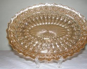 Carnival Glass Platter
