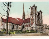 "Antique Vintage Postcard ""Union Church, Worcester, Massachusetts"" 3.5"" x 5.5"" Dated: 1906"