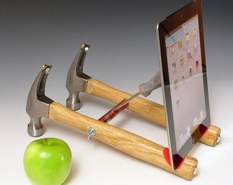Half price sale! Docking stations and chargers iPad stand. Handmade from repurposed tools. Functional desk art.  FAST SHIPPING. (353-4)