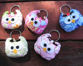 Owl Key Chains (1) - Your Choice of Color