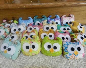 Plush Owl Dolls-- Set of 20