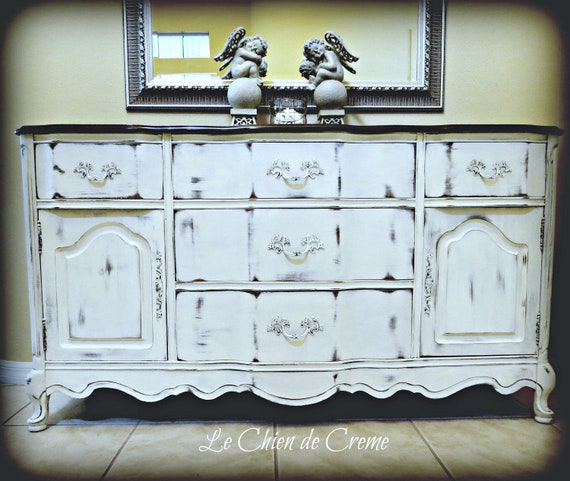 RESERVED for LORI-French Provincial Sideboard