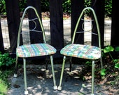 Playroom chairs metal child chair  mid century