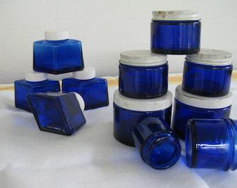 vintage jars got the cobalt blues