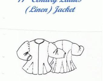 17th Century Ladies Linen Jacket.