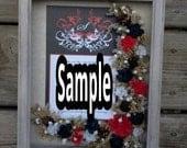 Custom Wedding Invitation Personalized Shadow Box Display Floral Arrangement Gift For Wedding Bridal Shower Bride Wedding  Present Keepsake