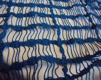 Blue Net Type Fabric