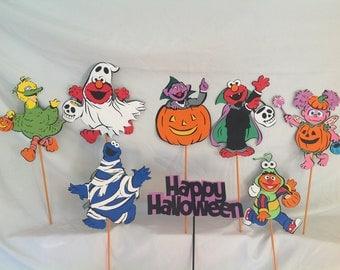 Sesame Street Party Centerpiece Picks