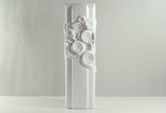 Op Art Vase Shells Fossil Square Alka Kaiser Frey