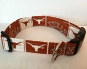 University of Texas Longhorns dog collar... Your choice of size