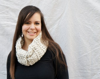 Chunky crochet Neckwarmer, Cowl, winter accessory  / The Kensington Neckwarmer