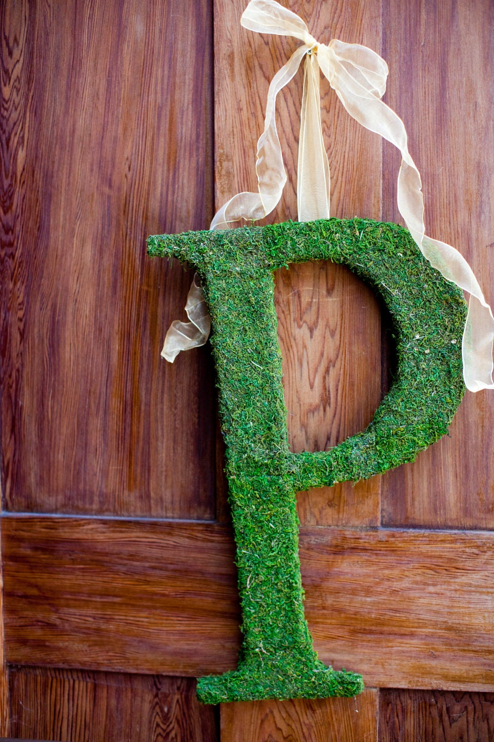 Christmas Wreath - Moss Letter, Christmas Gift Decoration 18 inches *SHIPS in 1-3 BUSINESS DAYs*