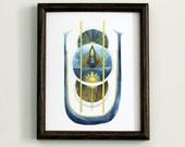 RESERVED // Sky Crest Art Print: 11x14