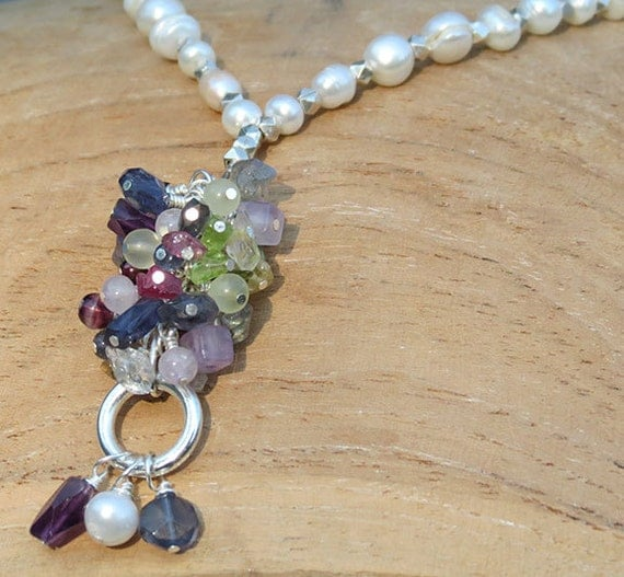 Pearl and Mixed Gemstone Necklace