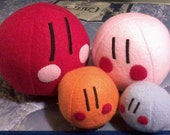 Hand-made: 3 Small (3x4 in) Dango plushes