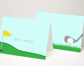 Golf Place Cards - DIY Printable Digital File