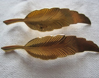 Two Vintage Feather Pins
