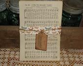 Vintage hymnal pages vintage music paper ephemera scrapbook altered art altered art music sheet music