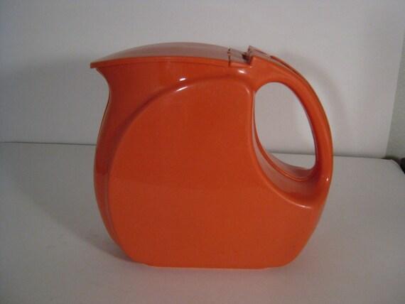 Vintage Wata Kanta Plastic Pitcher - Vintage Salmon Colored Plastic Pitcher