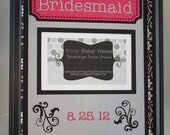 PERSONALIZED/Custom PICTURE frame Matting Bridesmaid damask- Matting ONLY