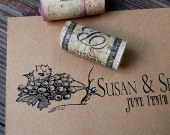 Winery and Vineyard Antique Vintage Wedding Invitations and RSVP