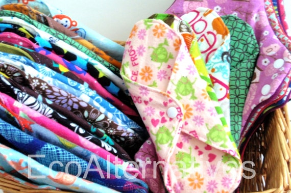 The Committed to Cloth Stash Set of 24 Reusable Cloth Menstrual Pads by EcoAlternatives
