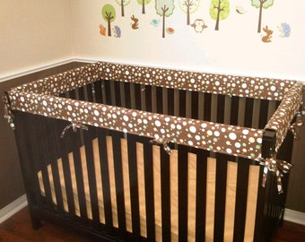 Crib Guards -- FOUR PIECE Custom Crib Rail Teething Guards for Baby/Toddler