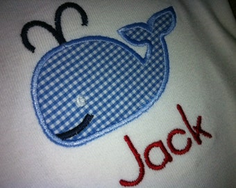Whale Shirt for Boy or Girls - Applique Whale