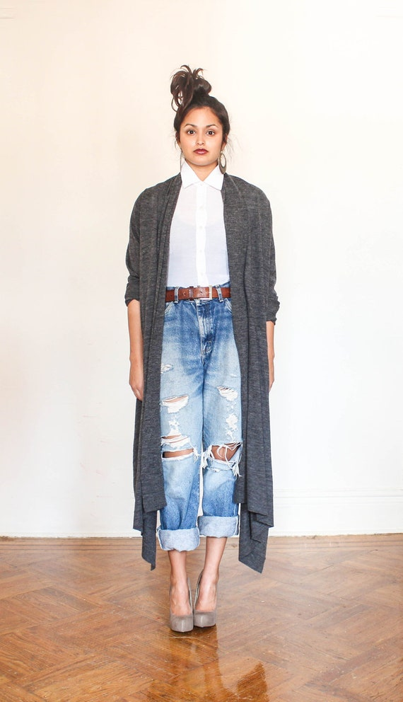 high low cardigan shawl  s-l