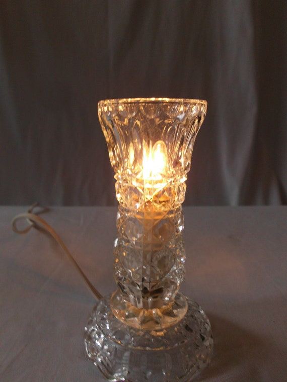 Shabby Chic Style Cut Crystal vanity night light
