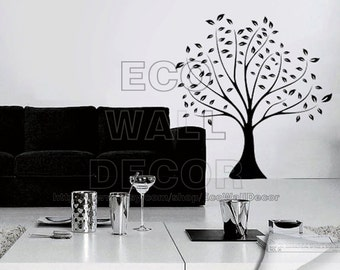 PEEL and STICK Removable Vinyl Wall Sticker Mural Decal Art - Black Linden Tree