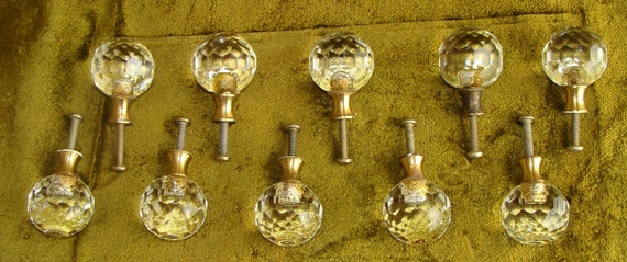 Beautiful Faceted Glass Drawer Pulls