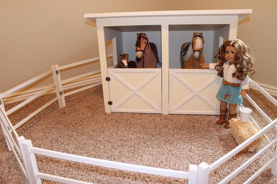 Doll Horse Stable And Fence Plans For American Girl Or 18 Inch