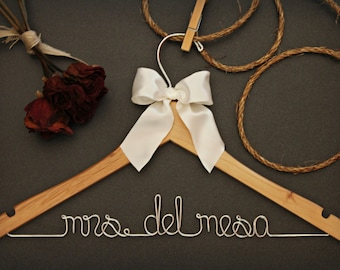 Bridesmaid Dress - Wedding Gown - Name Hanger - Wire Name Hanger - Custom Hanger - Personalized Hanger - Wedding Gifts and Mementos - Bridal