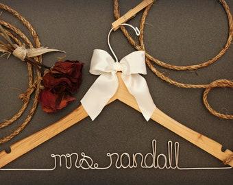 Bridesmaid Gift. Bridal Shower Gift. Bridesmaid Dress Hanger, bridesmaid hanger, maid of honor hanger, mother of bride hanger - Bride Hanger