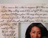 Anniversary Song Vows Poem Quotations Customized Personalized Frame