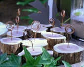 RESERVED FOR KRISTENBOEGE  - Table Number,Menu holder- Cedar Branch  & Recycled copper wire, one set of 15