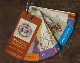 Mountain Meadow - Mini-Affirmation Cards on Keyring