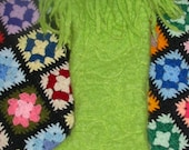 Handmade Grinch Stocking Made From VTG Mohair Blanket