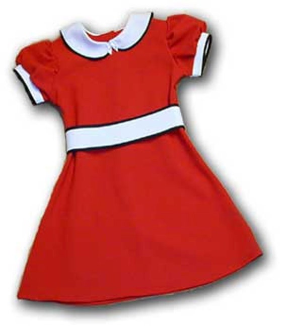 Little Orphan Annie red dress for girls