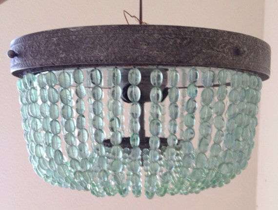 beaded lighting chandelier turquoise t
