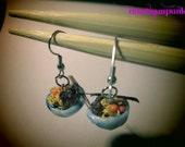 Mini ramen bowl with chopsticks earrings