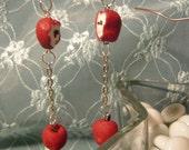 Mini Apple Earrings