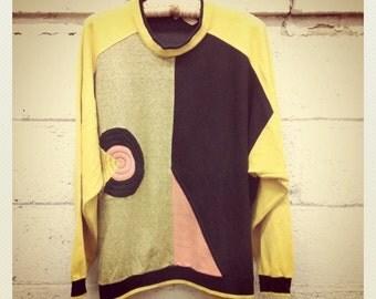 80s Devo Sweatshirt Geo Jumper